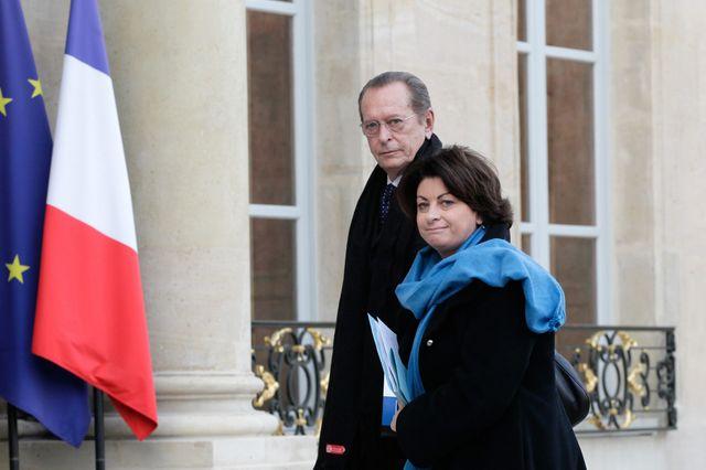 Dominique Baudis, le Defenseur des droits et Marie Derain, la Defenseure des enfants