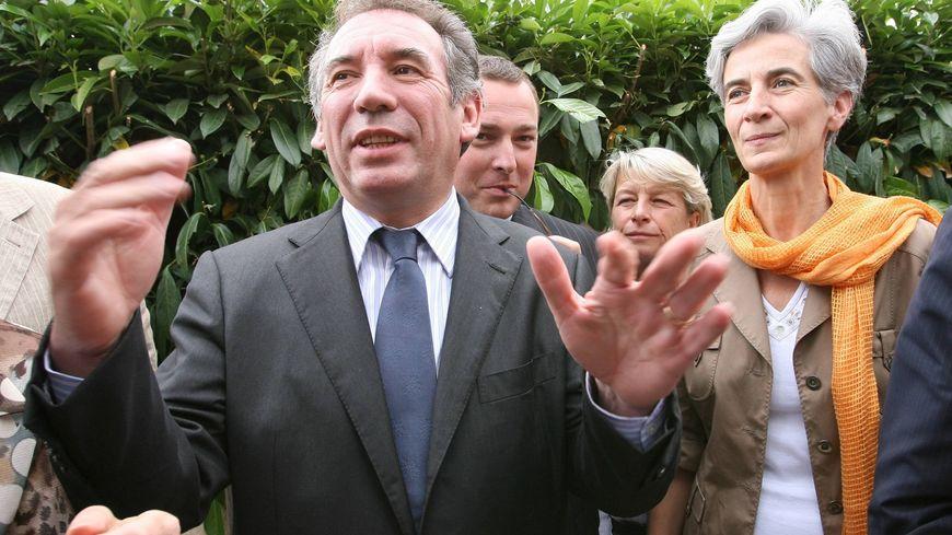 Véronique Fayet en campagne auprès de François Bayrou en 2007