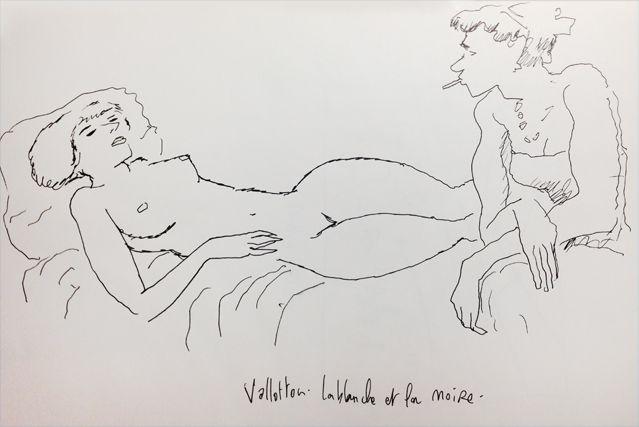 """""""La blanche et la noire"""" de Vallotton, croqué par Joann Sfar"""