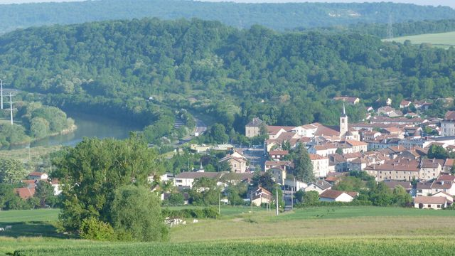 Custines (Meurthe-et-Moselle) - vue de l'A31