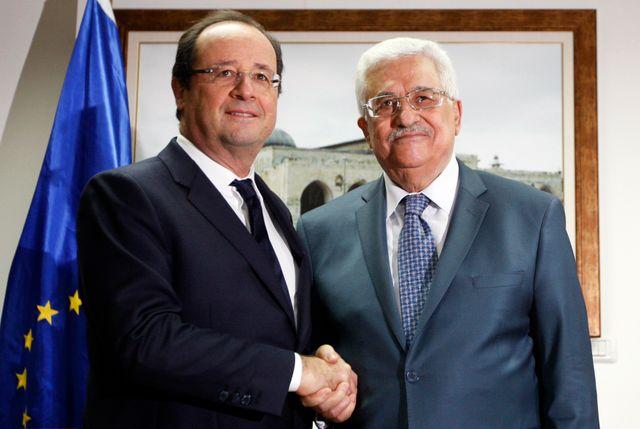 François Hollande avec Mahmoud Abbas