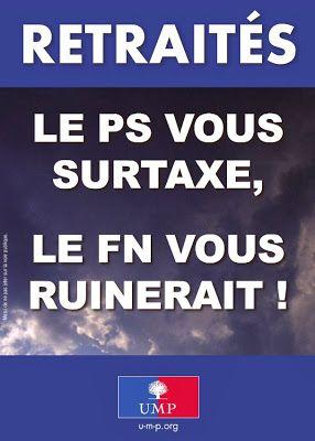 Tract de l'UMP : FN = PS