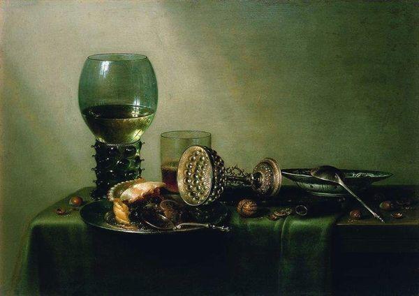 Dessert (Vanitas) par Willem Claeszoon Heda - 1637