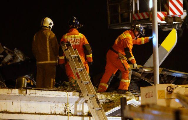 Crash d'un hélicoptère sur un pub de Glasgow