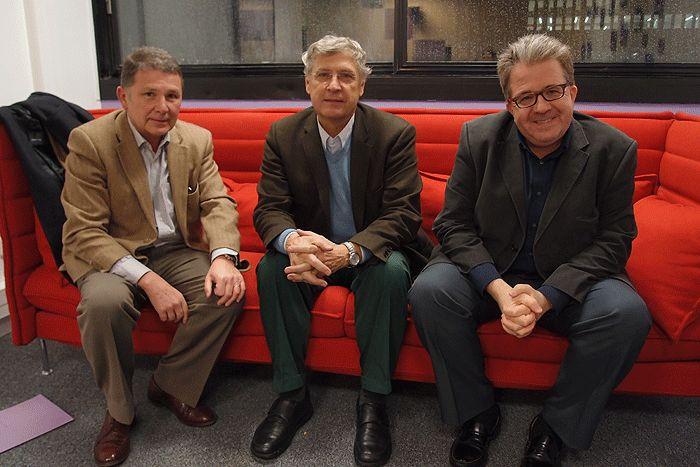 Thierry Garcin, Steven Ekovich et Christian Lequesne