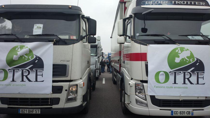 Manifestation des routiers de l'OTRE en Lorraine