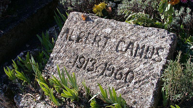 Pierre tombale d'Albert Camus à Lourmarin