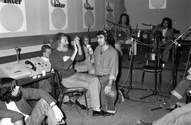 """Moustaki invité de """"Studio de nuit"""" de Jean-Louis Foulquier, sept 1975"""