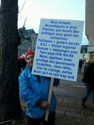 Dans la manifestation à Quimper