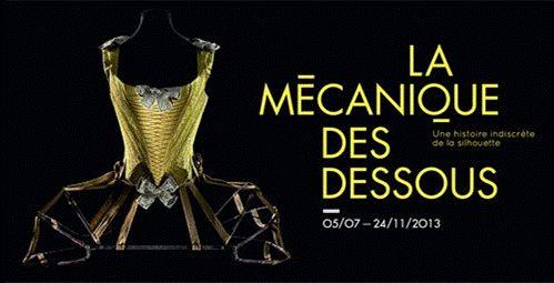 """Affiche de l'exposition """"La Mécanique des dessous"""" au Musée des Arts Décoratifs"""