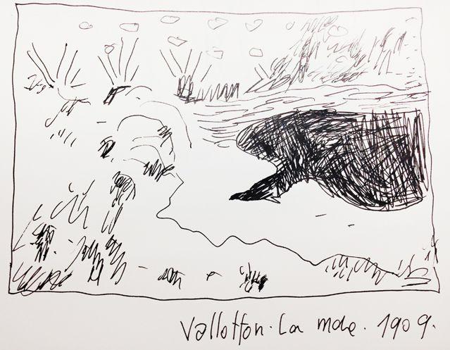 """La mare"" de Vallotton, croqué par Joann Sfar"