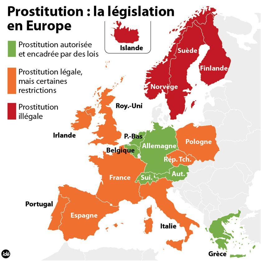 Les statuts de la prostitution en Europe