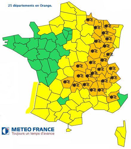 Carte météo 16h