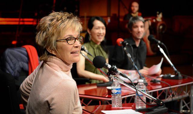 Véronique Jannot pendant l'émission