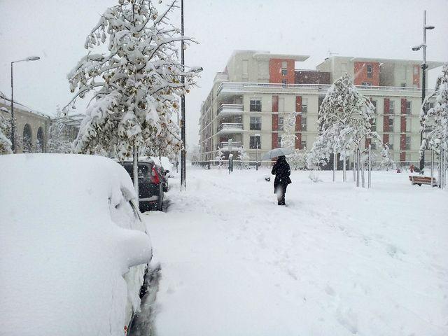 Neige à Saint-Etienne