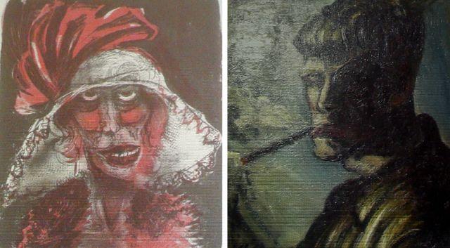 Deux oeuvres d'Otto Dix retrouvées ont été montrées mardi à la presse