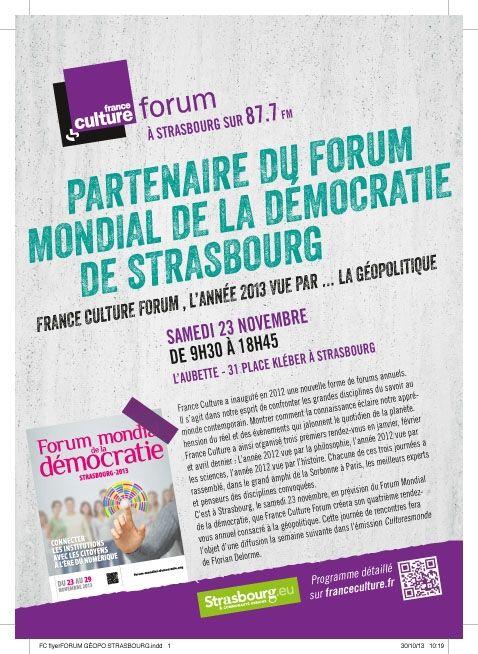 """Forum France Culture: """" L'année vue par... la géopolitique"""""""