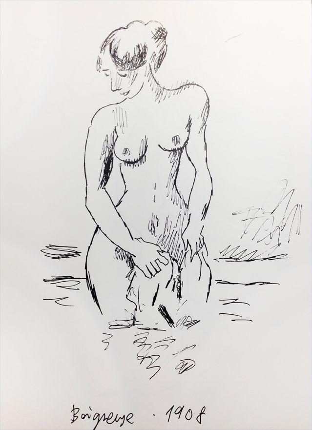 """""""Baigneuse"""" de Vallotton, croqué par Joann Sfar"""