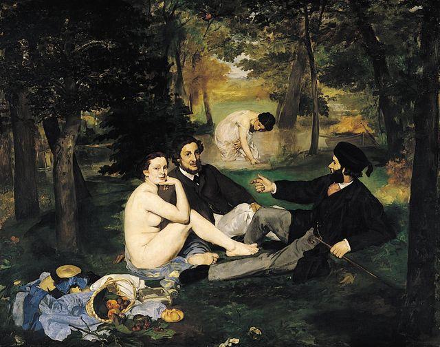 Le déjeûner sur l'herbe, 1863