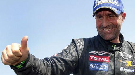 Stéphane Peterhansel lors de sa victoire en 2013 -