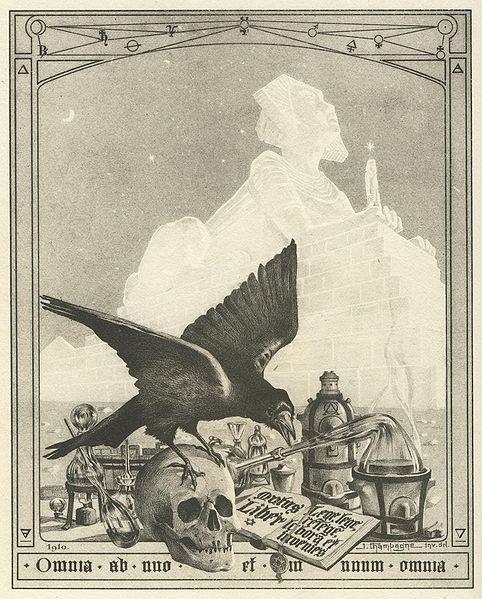 Frontispice du Mystère des cathédrales de Fulcanelli (1926)