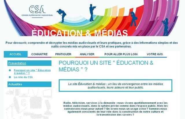 Le nouveau site pédagogique du CSA