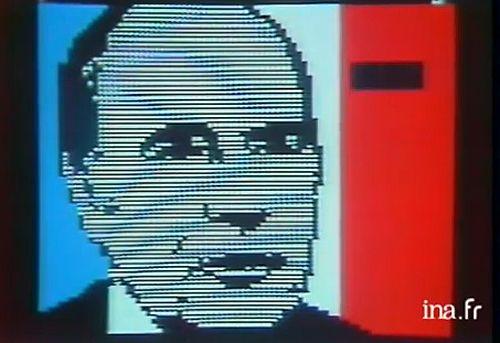 Capture d'écran de l'élection de François Mitterrand