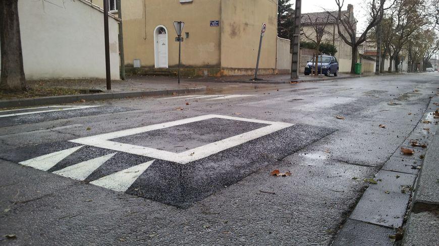 Ralentisseurs boulevard Louis-Carpentras à Avignon