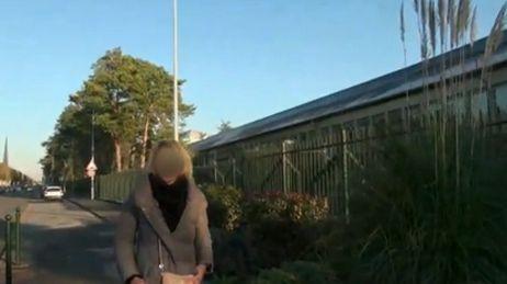 Capture d'écran de la vidéo dans laquelle apparaît le lycée Mireille-Grenet de Compiègne.