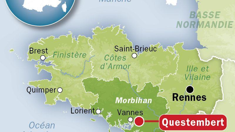 Carte Bretagne Questembert.Intemperies En Bretagne Une Femme Tuee Par La Chute D Un Arbre