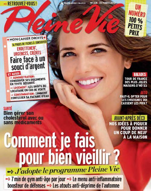 """Couverture du magazine """"Pleine Vie"""" d'octobre 2013"""