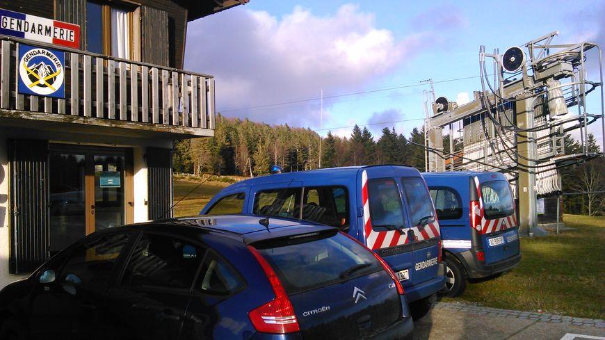 Le poste provisoire de gendarmerie au Ballon d'Alsace