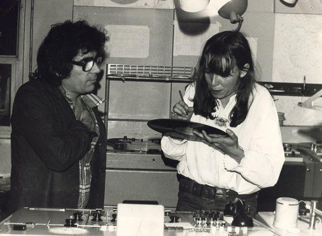 Maryse Friboulet et Claude Nougaro à France Inter en 1978
