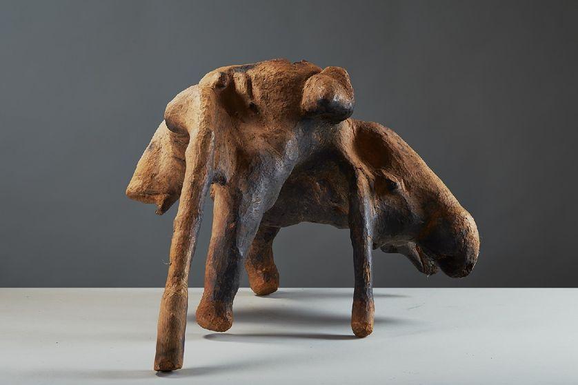 Ber Kou leye, 2000, bois caïcedrat, 41 x 70 x 24 cm