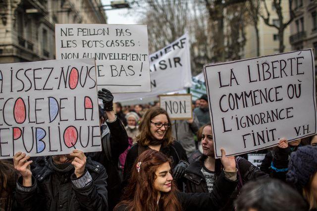 Manifestation contre la réforme des classes préparatoires