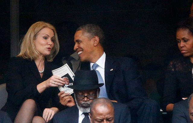 Obama -Helle Thorning-Schmidt - Kinnock cérémonieMandela