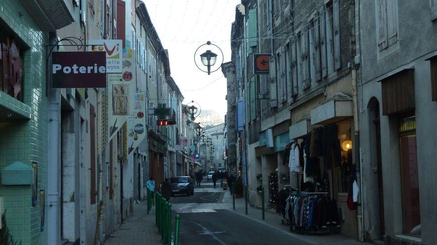 Le centre de Die dans la Drôme, décembre 2013