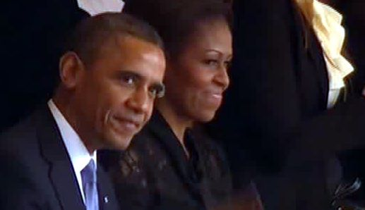 Barack et Michelle Obama au Soccer city stadium