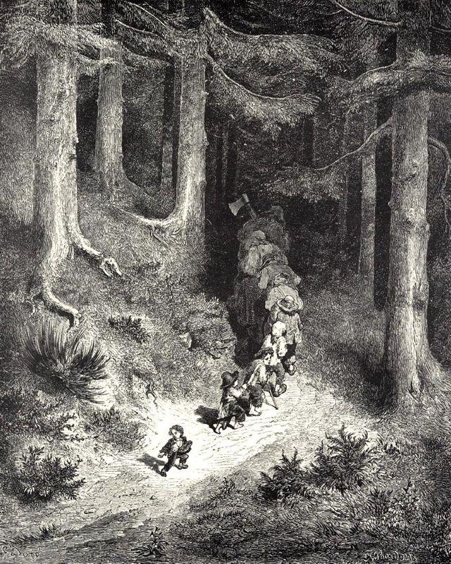 Le petit Poucet - gravure de Gustave Doré - XIXème siècle