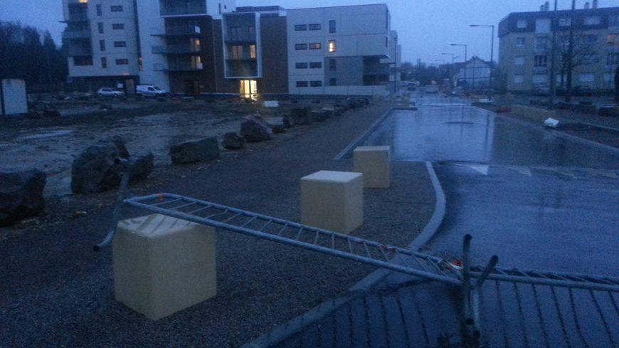 Pluie et vent à Caen mardi dernier veille de noël