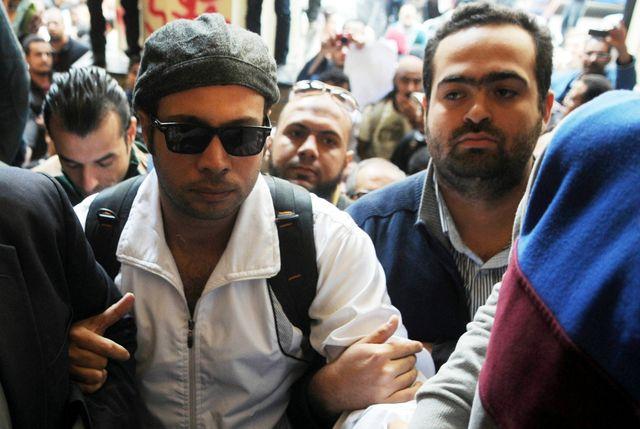 Mohamed Adel à droite et Ahmed Maher à gauche