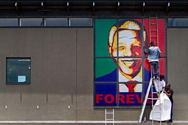 Un poster de Mandela