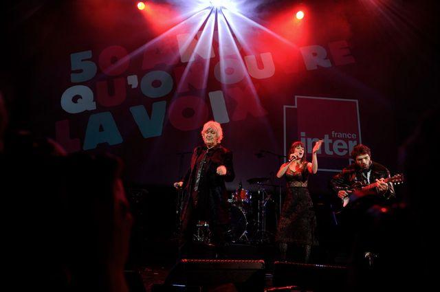 Jacques Higelin et Camille en duo sur la scène de la Gaîte lyrique