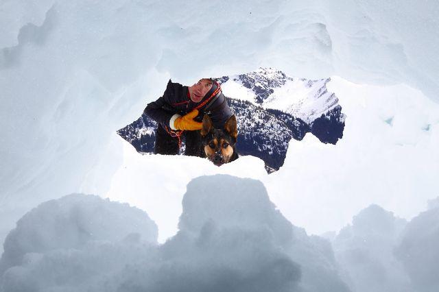 Au milieu d'une avalanche