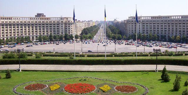 Le Boulevard Unirii vu depuis le Palais du Parlement