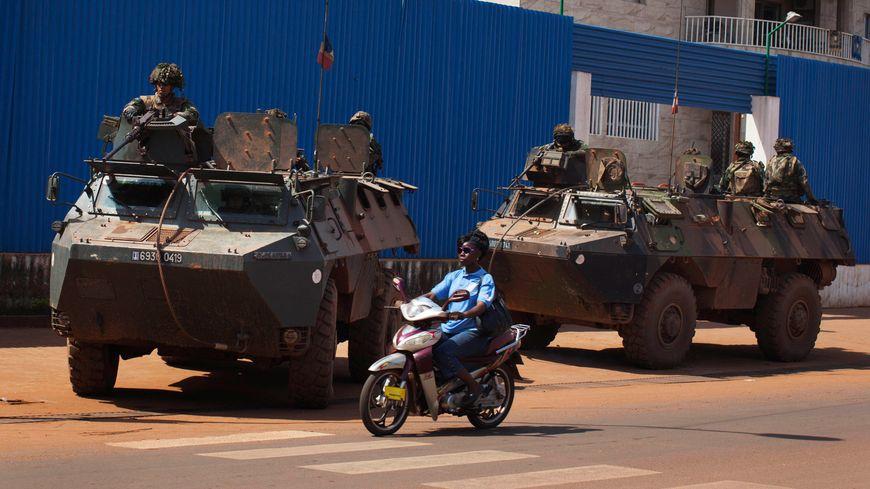 Des soldats français à Bangui (Centrafrique)