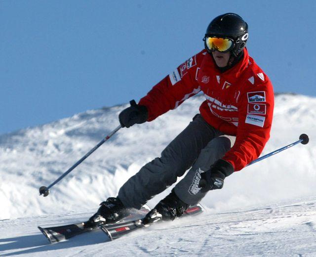 Schumacher chute à ski