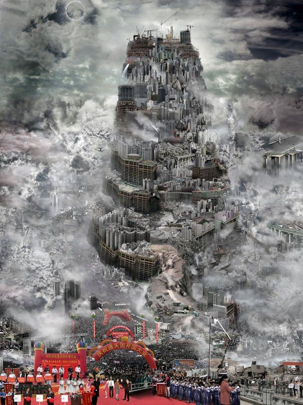 """Du Zhenjun, """"Independence of the Country Super tower"""", 2010"""