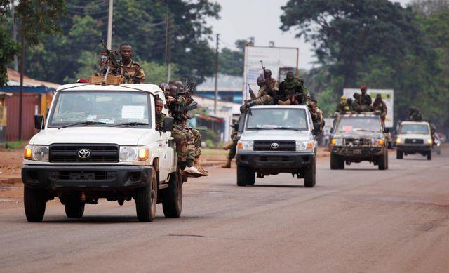 Convoi de combattants de l'ex-Séléka à Bangui