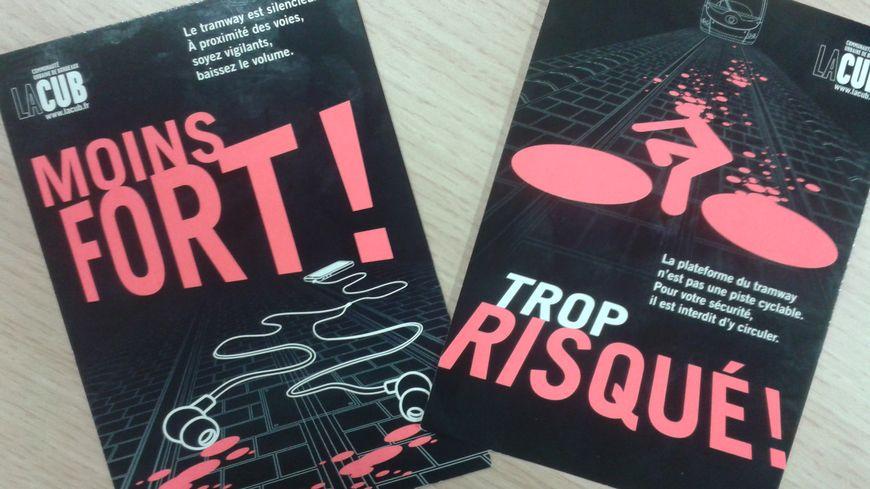 Les cartes postales de la campagne de sensibilisation
